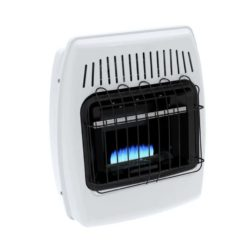 BF10NMDG Dyna-Glo 10,000 BTU Natural Gas Blue Flame Vent Free Wall Heater - flame profile