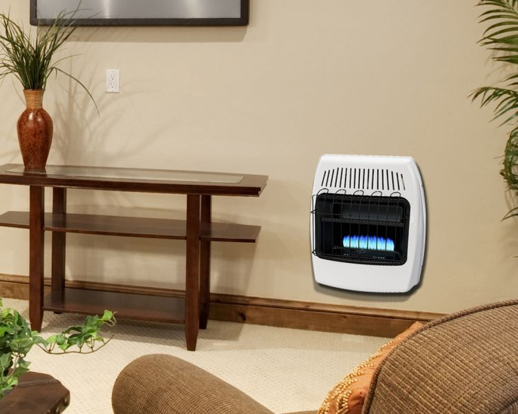 BF20NMDG Dyna-Glo 20,000 BTU Natural Gas Blue Flame Vent Free Wall Heater lifestyle