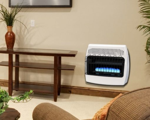 BF30NMDG Dyna-Glo 30,000 BTU Natural Gas Blue Flame Vent Free Wall Heater - lifestyle