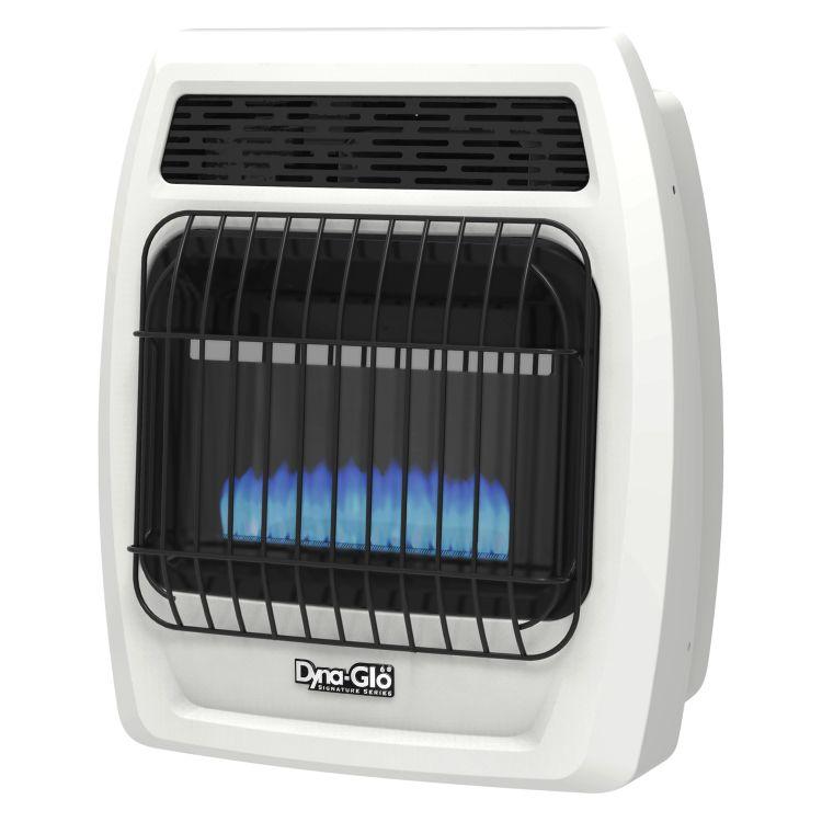BFSS10LPT-2P Dyna-Glo 10K BTU LP Blue Flame Vent Free T-stat Wall Heater -angle