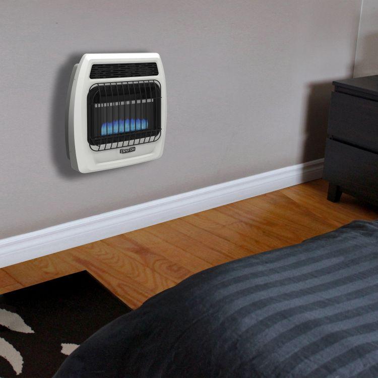 BFSS10LPT-2P Dyna-Glo 10K BTU LP Blue Flame Vent Free T-stat Wall Heater
