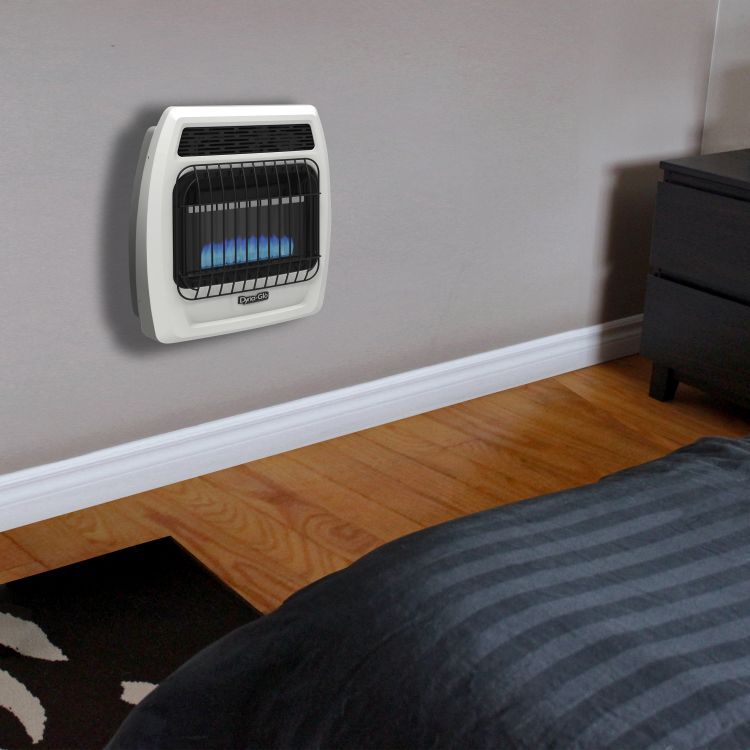 BFSS10NGT-2N Dyna-Glo 10K BTU NG Blue Flame Vent Free T-stat Wall Heater