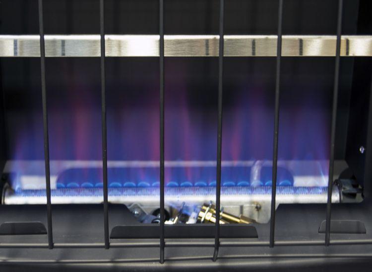 BFSS20LPT-2P Dyna-Glo 20K BTU LP Blue Flame Vent Free T-stat Wall Heater - flame