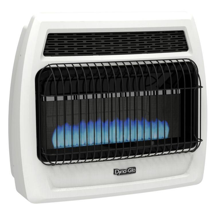 BFSS30LPT-2P Dyna-Glo 30K BTU LP Blue Flame Vent Free T-stat Wall Heater2
