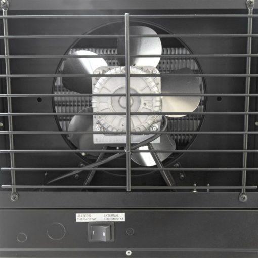 Dyna-Glo EG7500DH Dual Heat 7500W Electric Garage Heater - fan close up