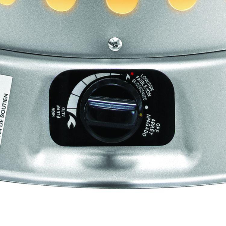 Dyna-Glo RMC-LPC80DG 80,000 BTU LP Convection Heater - dial