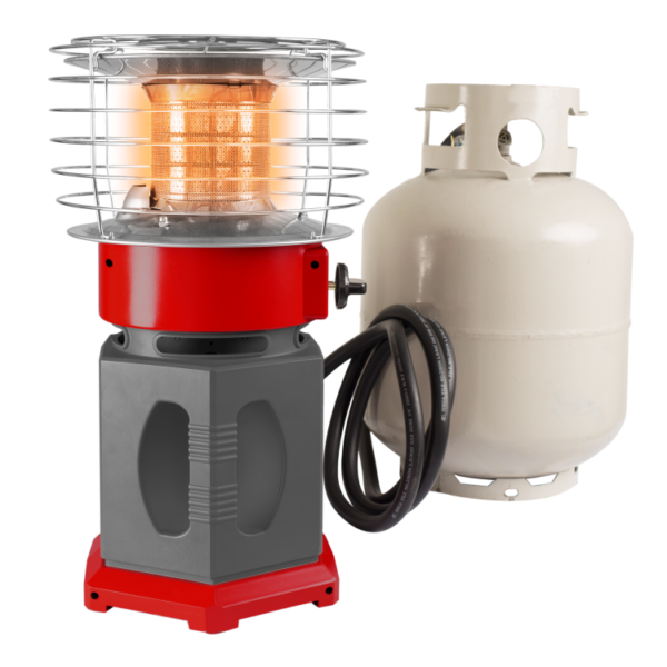 HA1360R Dyna-Glo HeatAround 360 Ignition 20lb LP Gas connection