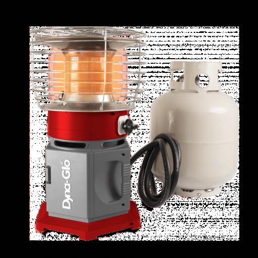 HA2360BK - Dyna-Glo HeatAround 360 Elite Red-20lb Lp Gas connection