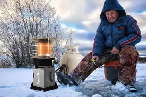 HA2360BK Dyna-Glo HeatAround 360 Lifestyle shot ice fishing