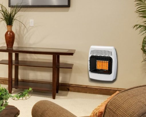 IR12PMDG-1 Dyna-Glo 12,000 BTU Liquid Propane Infrared Vent Free Wall Heater - lifestyle