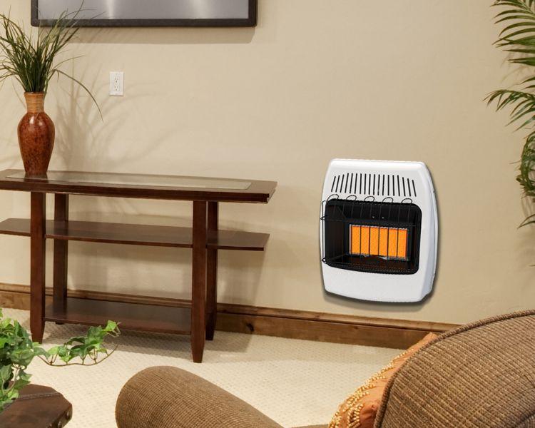 IR18PMDG-1 Dyna-Glo 18,000 BTU Liquid Propane Infrared Vent Free Wall Heater - lifestyle