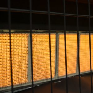 IR6NMDG-1 Dyna-Glo 6K BTU NG Infrared Vent Free Wall Heater - infrared flame