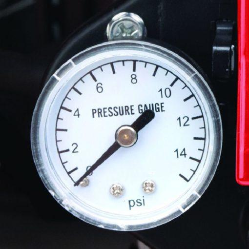 Dyna-Glo Delux KFA135DGD 95K or 135K BTU Kerosene Forced Air Heater - pressure gauge