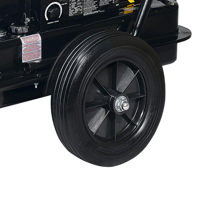 Dyna-Glo Delux KFA650DGD 650,000 BTU Kerosene Forced Air Heater - wheels