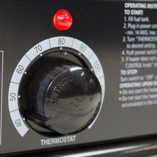 Dyna-Glo Delux KFA80DGD 80K BTU Kerosene Forced Air Heater-thermostat