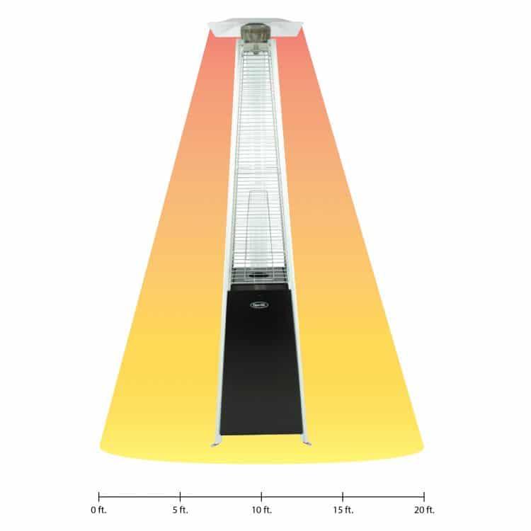 Dyna-Glo 42,000 BTU Black Pyramid Flame Patio Heater - DGPH301BL 20