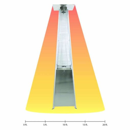 Dyna-Glo 42,000 BTU Stainless Steel Pyramid Flame Patio Heater - DGPH302SS 5