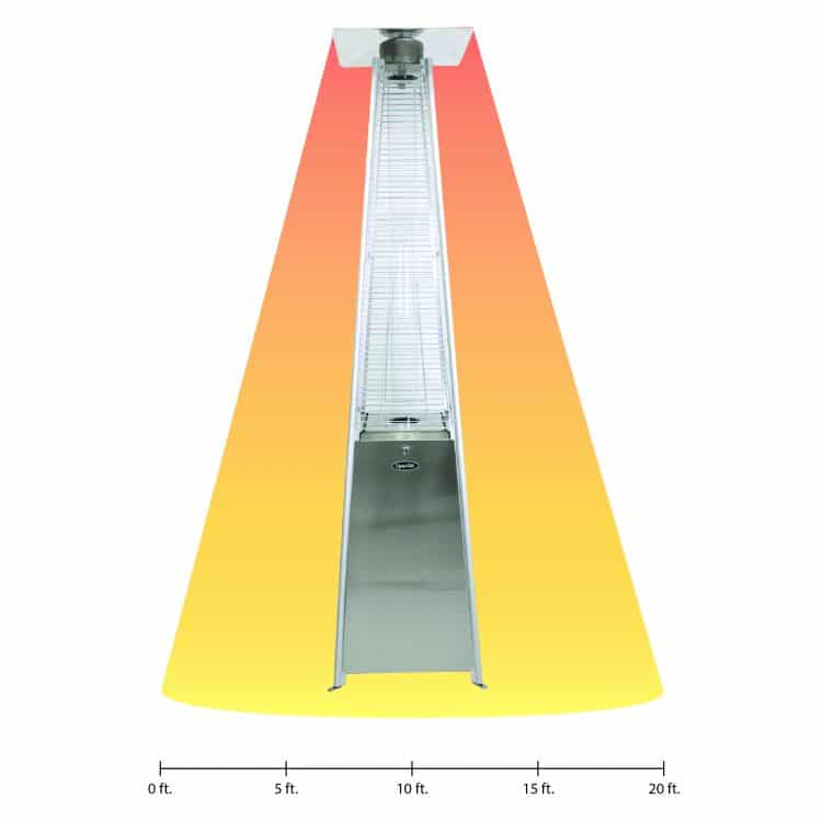 Dyna-Glo 42,000 BTU Stainless Steel Pyramid Flame Patio Heater - DGPH302SS 18