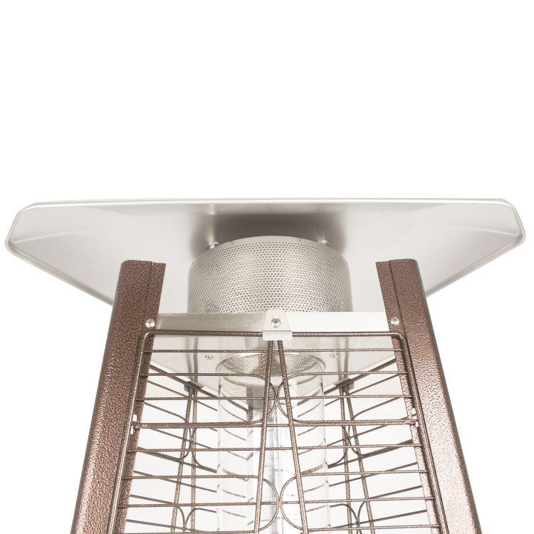"Dyna Glo 42,000 BTU 73"" Hammered Bronze Pyramid Flame Patio Heater - DGPH401BR 29"