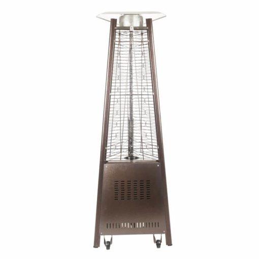 "Dyna Glo 42,000 BTU 73"" Hammered Bronze Pyramid Flame Patio Heater - DGPH401BR 2"
