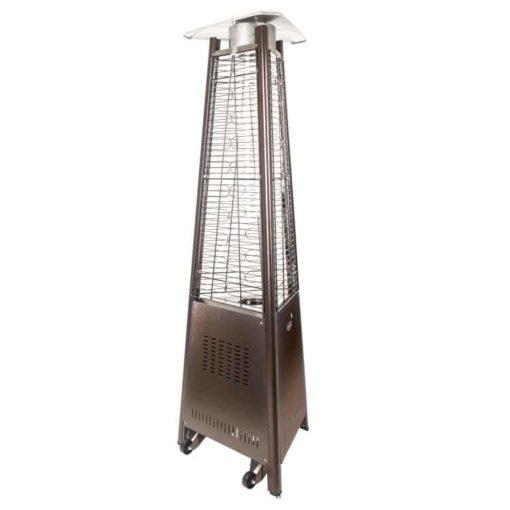 "Dyna Glo 42,000 BTU 73"" Hammered Bronze Pyramid Flame Patio Heater - DGPH401BR 3"