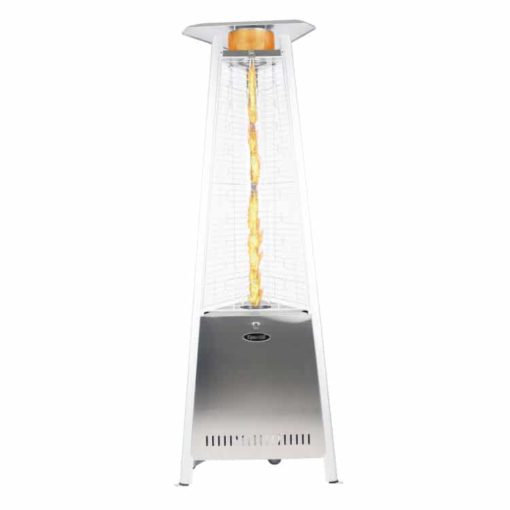 "Dyna Glo 42,000 BTU 73"" Stainless Steel Pyramid Flame Patio Heater - DGPH402SS 4"