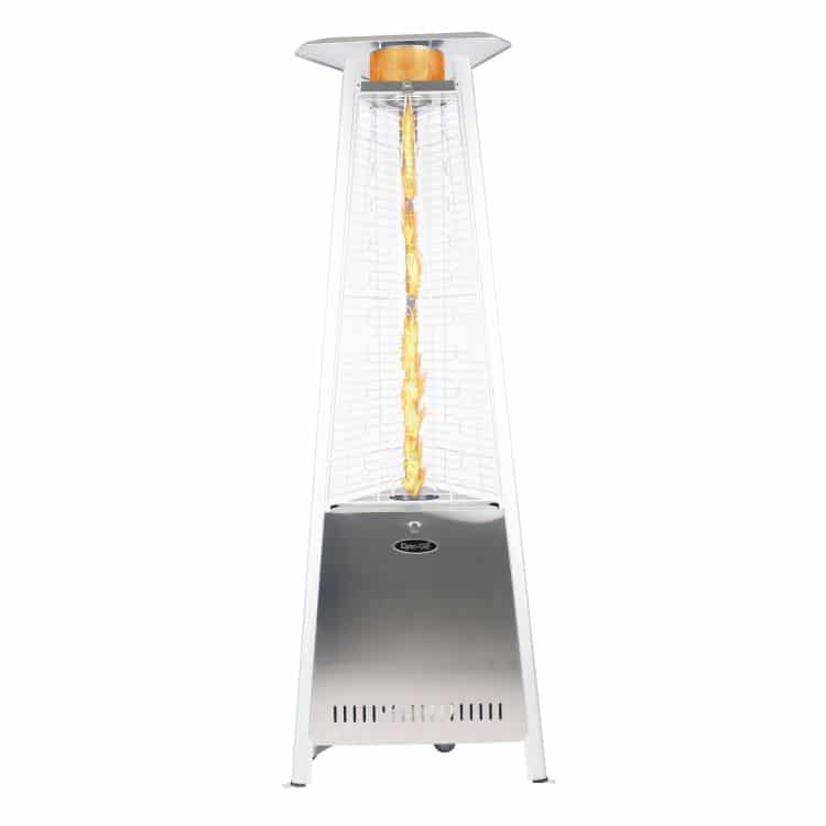 "Dyna Glo 42,000 BTU 73"" Stainless Steel Pyramid Flame Patio Heater - DGPH402SS 29"