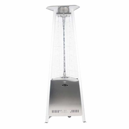 "Dyna Glo 42,000 BTU 73"" Stainless Steel Pyramid Flame Patio Heater - DGPH402SS 1"