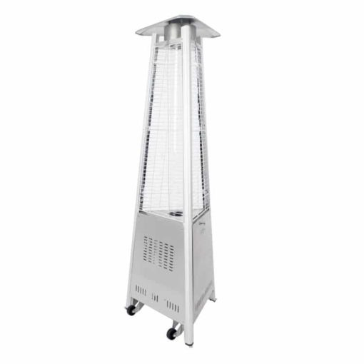 "Dyna Glo 42,000 BTU 73"" Stainless Steel Pyramid Flame Patio Heater - DGPH402SS 7"